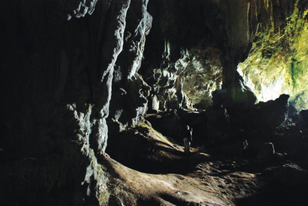 洞内岩壁后像是住着精灵
