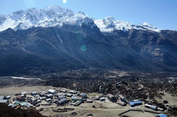 14深受西藏文化影响的Kyanjin Gompa村显得十分庄严。