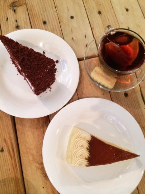 gula melake crepe cake + red velvet cheese cake